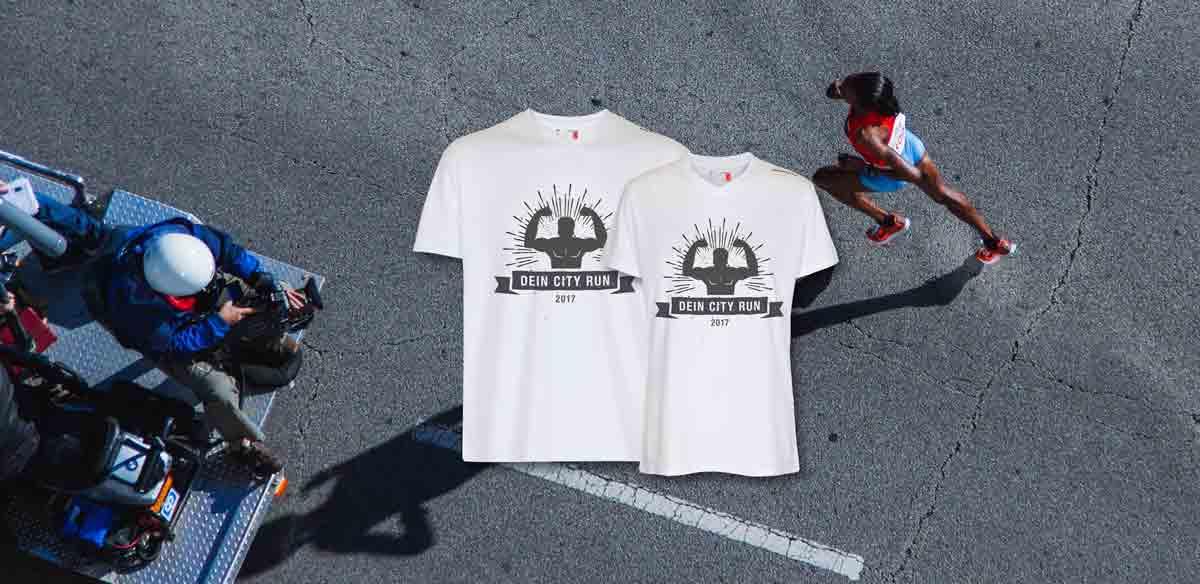Laufshirts mit Druck für City Run und Marathon